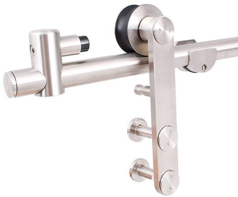 6.6 FT Stainless Steel Sliding Barn Door Hardware Set