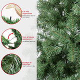 WBHome 7.5 Feet Premium Spruce Hinged Artificial Christmas Tree, 1346 Branch Tips, Unlit