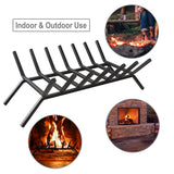 WBHome Fireplace Log Grate 24 inch - 7 Bar Fire Grates - Heavy Duty Solid Steel - for Indoor Chimney Hearth Outdoor Fire Place Kindling Tool Pit Wrought Iron Wood Stove Firewood Burning Rack Hold