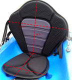 SIT ON TOP Kayak Seat w/ Detachable Back Pack Raft Canoe Deluxe Black