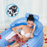 Bathtub Gift Inflatable Portable Adult PVC Folding Air Fast Pump SPA