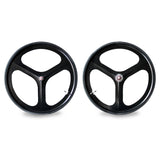 Fixed Gear Set 700c Tri Spoke Rim Front Rear Single Speed Fixie Wheel
