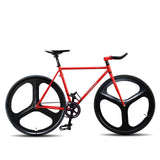 Fixed Gear 700c Tri Spoke Rim Front Rear Single Speed Bicycle Wheel Set