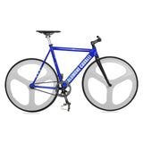 Fixed Gear Tri Spoke Single Speed Bicycle Wheel Set 700c Front Rear