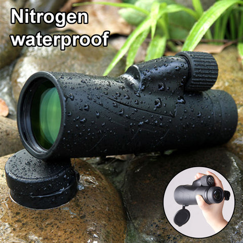 PENSON & CO. 12x50 Monocular Waterproof  Fogproof  Multi-coated Telescope for Bird Watching Wildlife with Tripod for Hands Free Viewing
