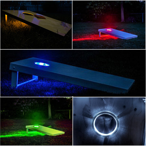"6"" Set of 2 LED Cornhole Night Light Bean Bag Toss Board"