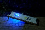 Set of 2 Cornhole Night Light Dadhole Bean Bag Toss Board