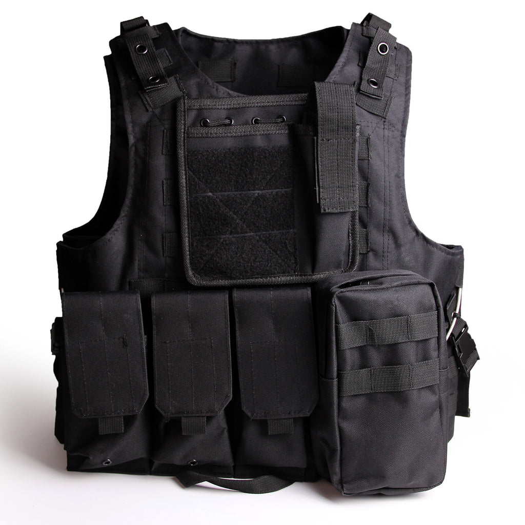 Tactical Molle Combat Vest Airsoft Gear Camouflage Police Fully ... 70c07ccd0c0