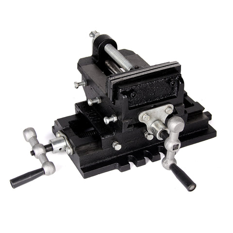 "Drill Press Heavy Duty 4"" Cross Slide Vise X-Y Clamp Milling Machine"