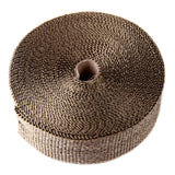 "Titanium 50Ft 2"" Exhaust Header Heat Wrap Tape Kit, w/ 6 Zip Ties"