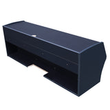 TCBunny Floating TV Stands Desk with Storage Wall Mounted Black