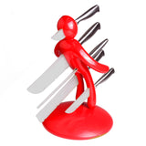 The Ex 5-piece Set Chef's knife Unique Artistic plastic storage figurine Holder
