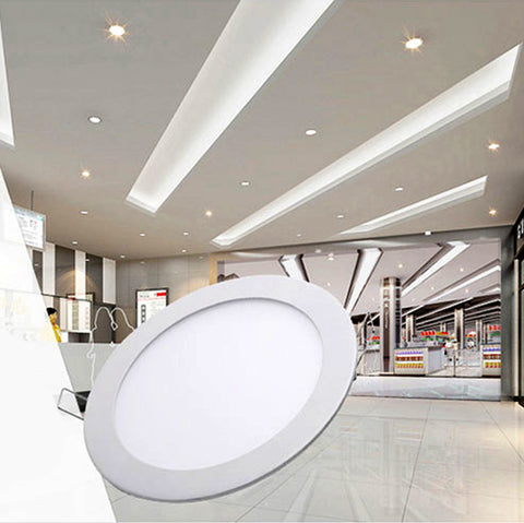 Round LED Recessed Ceiling Panel Down Lights Bulb Lamp For Indoor Home