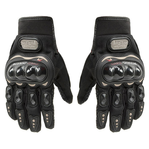 Pro-biker Motorbike Powersports Racing Gloves Black