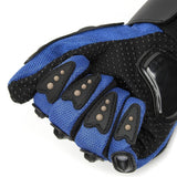 TCBunny Pro-biker Motorbike Carbon Fiber Powersports Racing Gloves (Blue, X-Large)