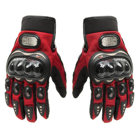 Pro-biker Motorbike Powersports Racing Gloves (Red, Large)