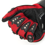 TCBunny Pro-biker Motorbike Carbon Fiber Powersports Racing Gloves (Red, X-Large)