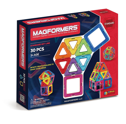 Magformers 30 PC Magnetic Educational Construction Blocks