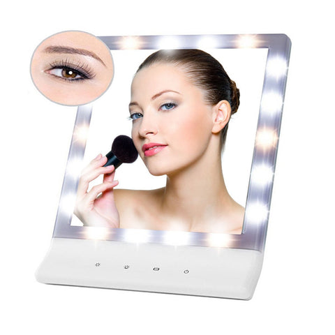 18 LED Smart Foldable Cosmetic Vanity Makeup Lighted Mirror