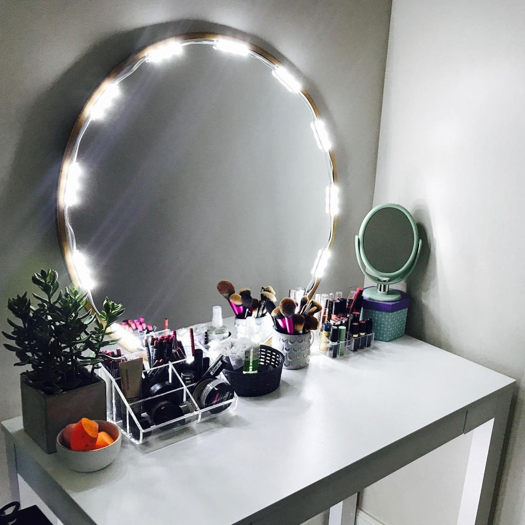 10 ft lighted mirror led light for cosmetic makeup vanity mirror led mirror light mozeypictures Image collections