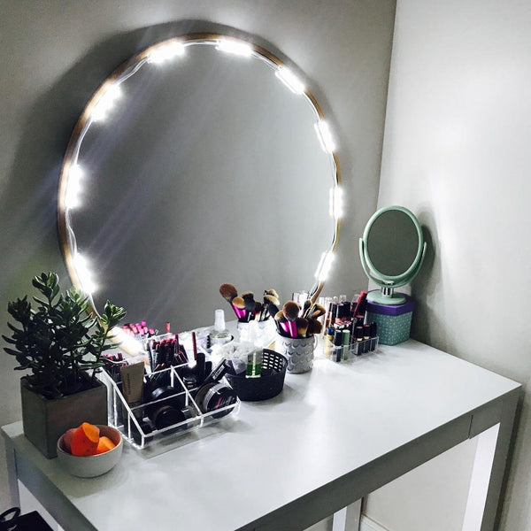 10 Ft Lighted Mirror Led Light For Cosmetic Makeup Vanity Mirror Kit W Penson Amp Co