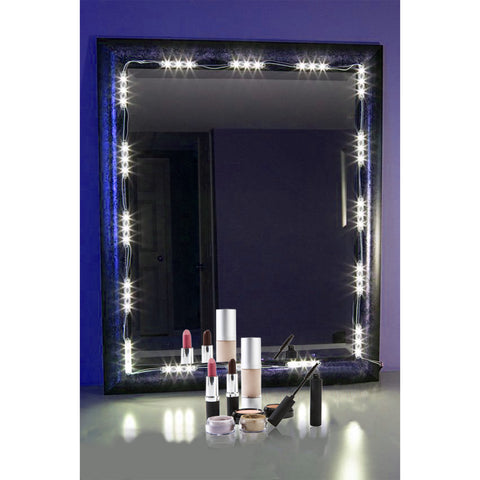 PENSON & CO. Lighted Mirror LED Light for Cosmetic Makeup Vanity Mirror Kit, 20 LED Lights