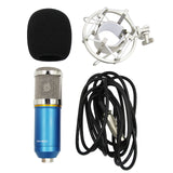 PENSON & CO. Blue Studio Recording Condenser Microphone with Shock Mount Holder Clip for Radio Broadcasting Studio, Voice-Over Sound Studio, Home Recording, Gaming and Video Chat