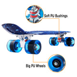 "22"" Plastic Skateboards Penny Style Retro Mini Board"