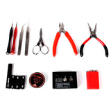 Updated 6 in 1 Vape DIY Coil Tool Kit for Jig Rebuildable Vaporizer