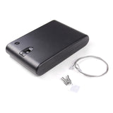 Biometric Portable Fingerprint Car Gun Safe Security Box Lock w/Cable