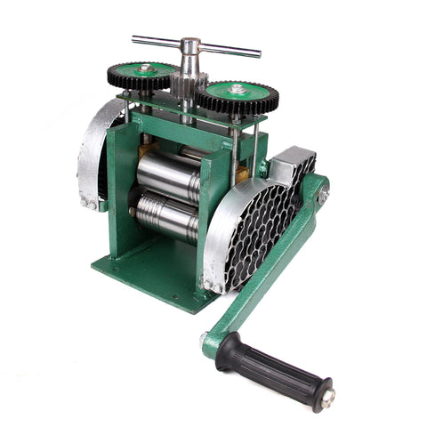 "3"" Manual Combination Rolling Mill Machine Jewelry Press Tabletting DIY Tool"