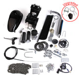 Motor Engine Kit Gas for Motorized Bicycle Bike NEW Black 80cc 2-Stroke