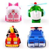 Transformer Robocar Poli Amber Roy Helly Toy Kids Gifts Set