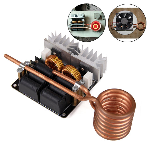 Low Voltage Induction heating Board Brass Coil DIY 1000W ZVS Low Voltage
