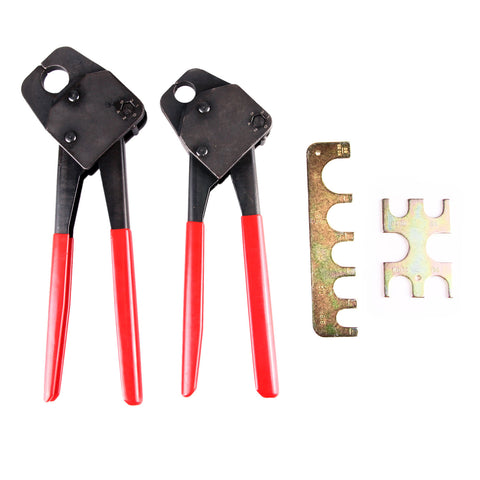 "2 Pex Crimp Tools 1/2""and 3/4"" w/GoNoGo Gauge Pex Crimper Copper Ring"