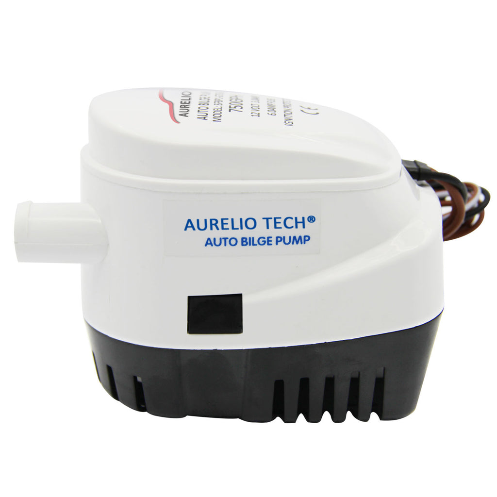 Automatic Submersible Boat Bilge Water Pump 750gph Auto W Float Large Pumps Wiring Diagram 12v With Switch