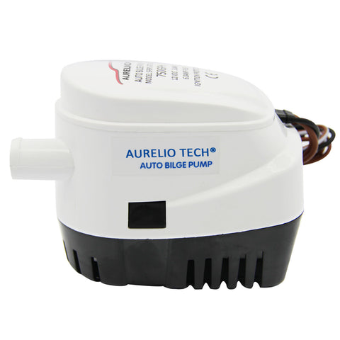 Boat Bilge Pump 12V Automatic Submersible 750GPH Auto w/Float Switch