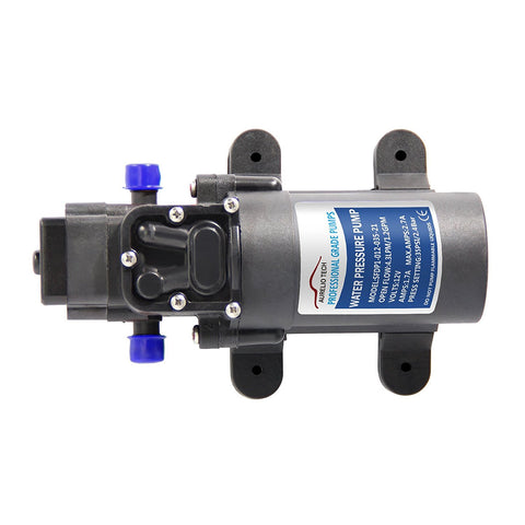 12V Fresh Water Pressure Diaphragm Self Priming Pump RV Boat 1.2GPM
