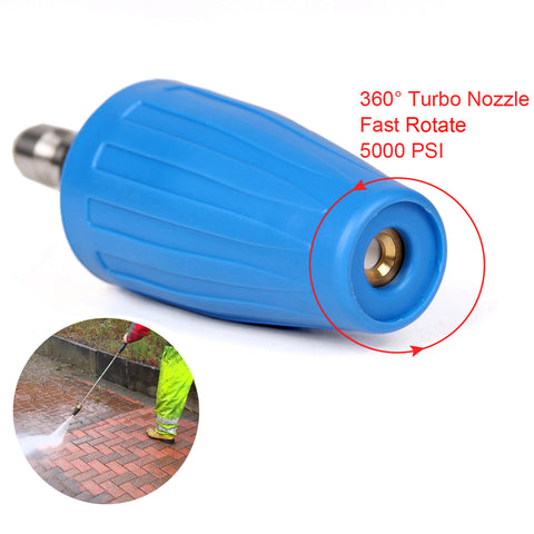 Nozzle 4.0 GPM Turbo 5000PSI Rotary for Pressure Washer Quick Connect for Wholesale 100pcs