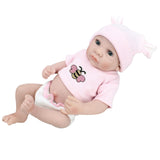 "10"" Reborn Baby Realike Doll Handmade Lifelike Silicone Vinyl Doll for Toddler Gifts"