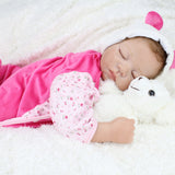 "22"" Reborn Newborn Baby Realike Doll Handmade Lifelike Silicone Vinyl Weighted"