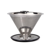 Coffee Dripper Pour Over Filter Stainless Steel Double Mesh 2(4) cup