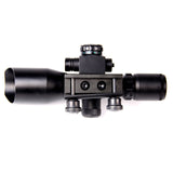 Red Green Rifle Scope 2.5-10x40 Mil-dot illuminated w/ Red Laser