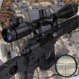 6-24x50 Rifle Scope AO Red Green Dual Illuminated Mil-dot Optic w/Ring