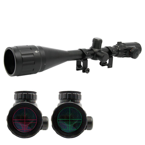 6-24x50 AOE Rifle Scope Red+Green Mil-Dot Illuminated Optics