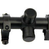 Hunting Rifle Scope W/Rings 6-24x50 AOE Red Green Mil-Dot Illuminated