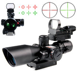 Rifle Scope 2.5-10X40 Tactical w/Red Laser & Holographic Green/Red Dot