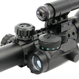 Rifle Scope 3-9X40 Illuminated Tactical w/Red Laser & Holographic Dot