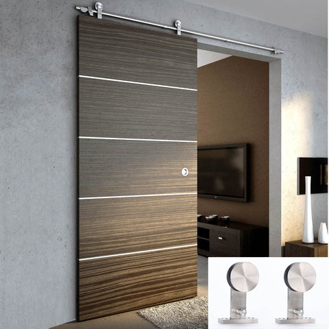 6.6Ft Stainless Steel Sliding Barn Door Hardware Set - SDH-0001-00