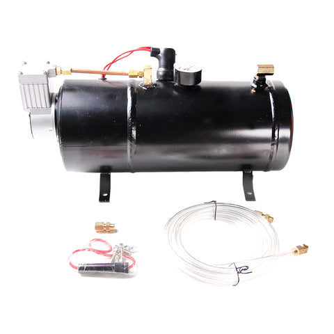 AURELIO TECH 150PSI DC 12V Air Horn Air Compressor Tank Pump for Truck Pickup w/ 3L Tank